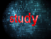Education concept: Study on digital background — Foto Stock