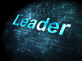 Finance concept: Leader on digital background — Stock Photo