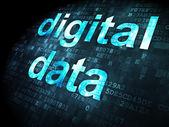 Koncept dat: digitální Data na digitální pozadí — Stock fotografie