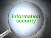 Security concept: Information Security with optical glass — Stockfoto