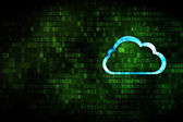 Cloud computing concept: Cloud on digital background — Stock Photo