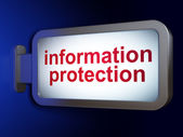 Protection concept: Information Protection on billboard backgrou — Stockfoto