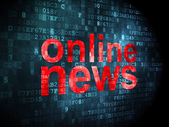 News concept: Online News on digital background — Stock Photo