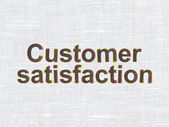 Advertising concept: Customer Satisfaction on fabric texture bac — Stock Photo