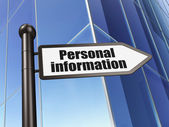 Protection concept: Personal Information on Building background — Stock Photo