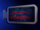 Security concept: Personal Information on billboard background — Stockfoto