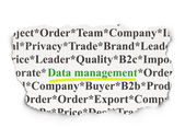 Information concept: Data Management on Paper background — Stock Photo