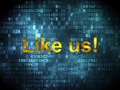 Social network concept: Like us! on digital background — Stockfoto