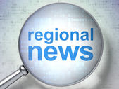 News concept: Regional News with optical glass — Stockfoto