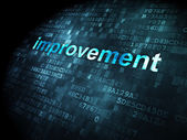 Business concept: Improvement on digital background — Stock Photo