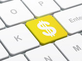 Currency concept: Dollar on computer keyboard background — Stock Photo