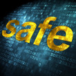 Safety concept: Safe on digital background — Stock Photo #33456431