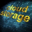 Privacy concept: Cloud Storage on digital background — Stock Photo
