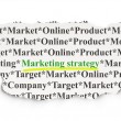 Foto de Stock  : Marketing concept: Marketing Strategy on Paper background