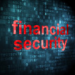 Safety concept: Financial Security on digital background — Stock Photo #33457315