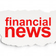 News concept: Financial News on Paper background — Stock Photo #33457443