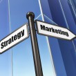 Photo: Marketing concept: Marketing Strategy on Building background