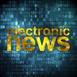 News concept: Electronic News on digital background — Stock Photo #33458499