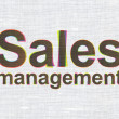 Photo: Advertising concept: Sales Management on fabric texture backgrou