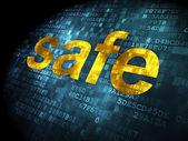 Safety concept: Safe on digital background — ストック写真