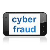 Safety concept: Cyber Fraud on smartphone — Zdjęcie stockowe