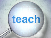 Education concept: Teach with optical glass — Foto Stock