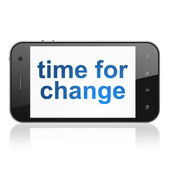 Timeline concept: Time for Change on smartphone — 图库照片