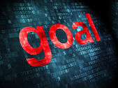 Advertising concept: Goal on digital background — Stock Photo