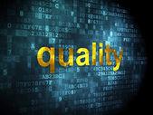 Marketing concept: Quality on digital background — Zdjęcie stockowe
