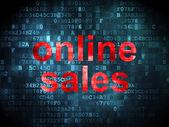 Marketing concept: Online Sales on digital background — ストック写真