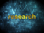 Advertising concept: Research on digital background — 图库照片