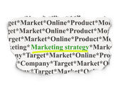 Marketing concept: Marketing Strategy on Paper background — Stock Photo