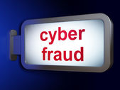 Safety concept: Cyber Fraud on billboard background — Stockfoto