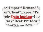 Information concept: Data Backup on Paper background — Stockfoto