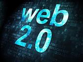 SEO web development concept: Web 2.0 on digital background — Stockfoto