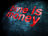 Time concept: Time is Money on digital background — Stock Photo