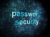 Security concept: Password Security on digital background — Zdjęcie stockowe