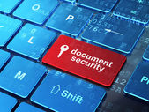 Security concept: Key and Document Security on computer keyboard — Stock Photo