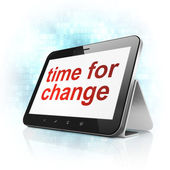 Time concept: Time for Change on tablet pc computer — 图库照片