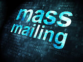 Advertising concept: Mass Mailing on digital background — Stock Photo