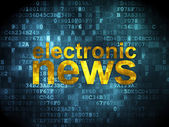News concept: Electronic News on digital background — Zdjęcie stockowe