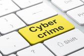 Safety concept: Cyber Crime on computer keyboard background — Zdjęcie stockowe