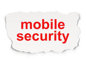 Privacy concept: Mobile Security on Paper background — Stockfoto