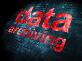 Information concept: Data Archiving on digital background — Stockfoto