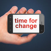 Timeline concept: Time for Change on smartphone — Stok fotoğraf