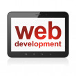 Web design concept: Web Development on tablet pc computer — Stock Photo