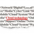 Cloud technology concept: Cloud Technology on Paper background — Stock Photo