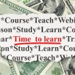 Education concept: Time to Learn on Money background — Stock Photo