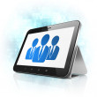 News concept: Business People on tablet pc computer — Stockfoto #34085413