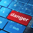 Safety concept: Danger on computer keyboard background — Foto Stock #34087463